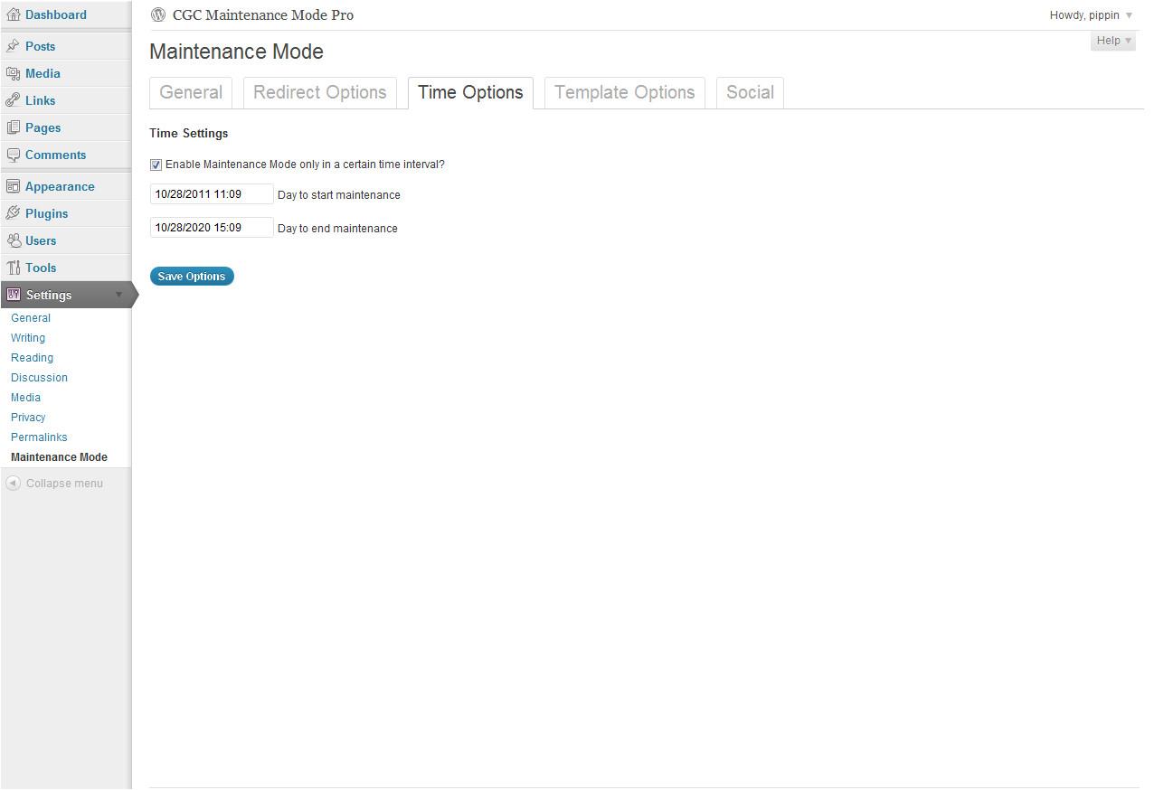 maintenance plugin