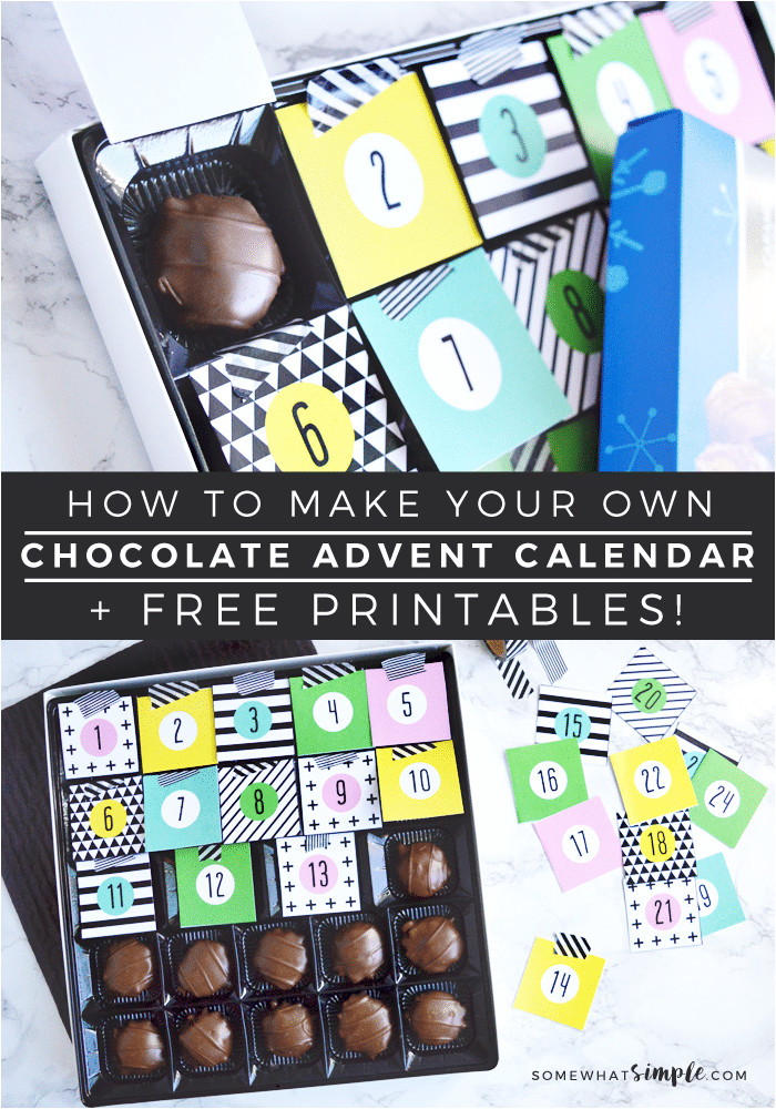 chocolate christmas advent calendar