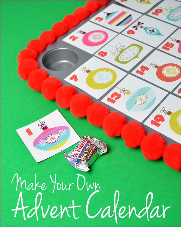 Make Your Own Advent Calendar Template Make Your Own Advent Calendar and Free Printable