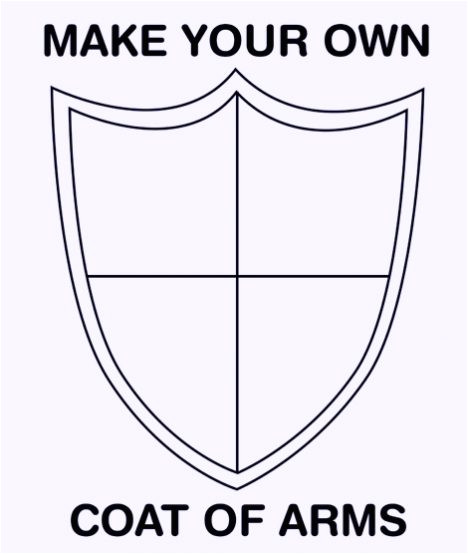 find your coat of arms symbols template design