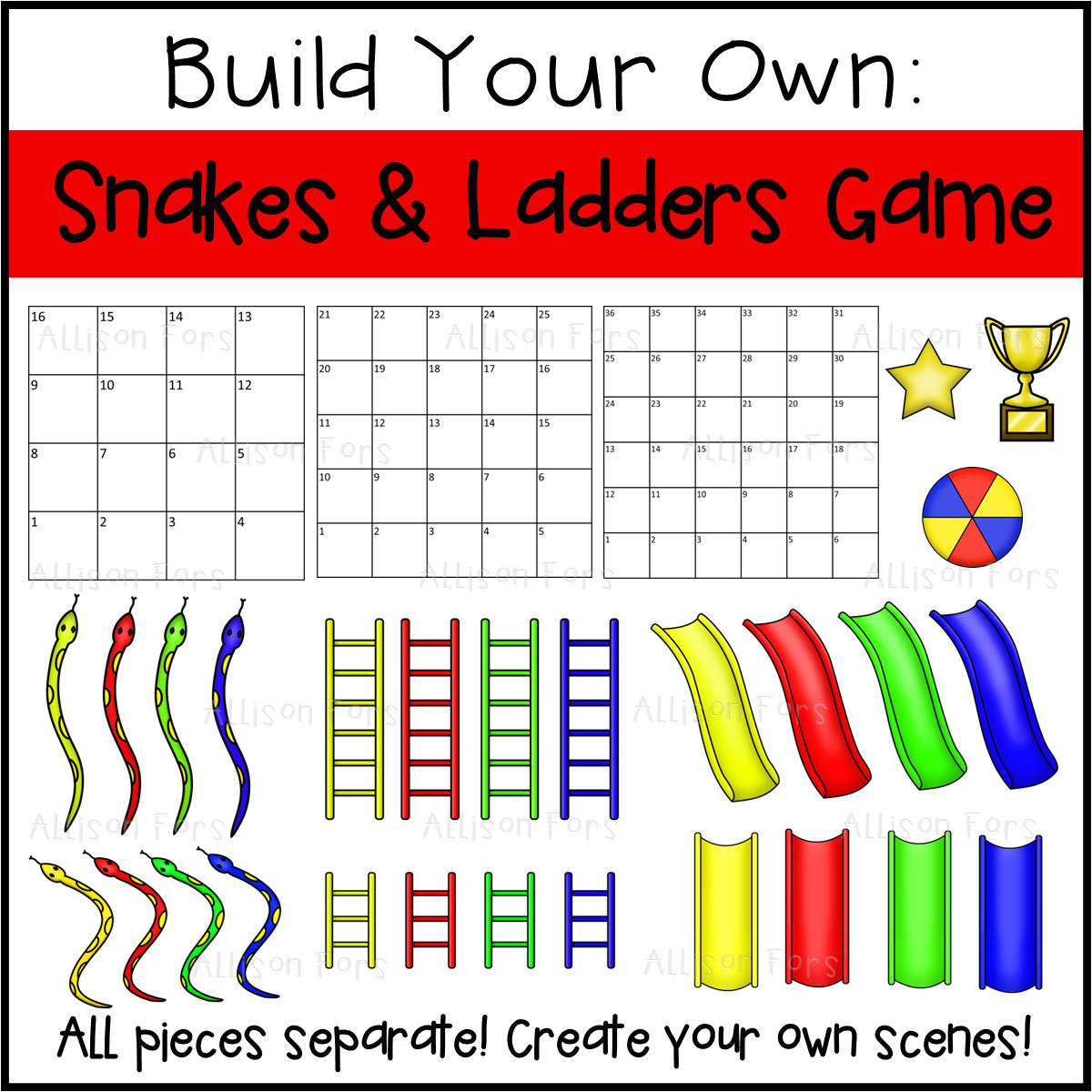 build your own snakes ladders