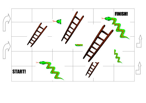 snakes and ladders game board 6130035