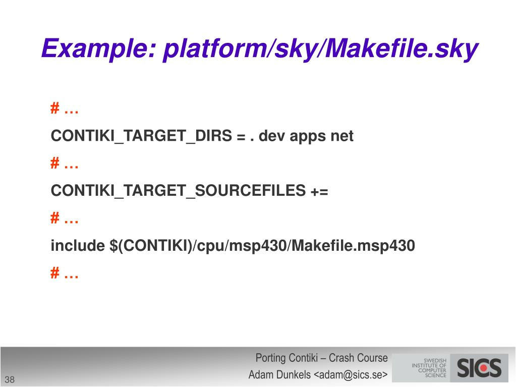 Makefile Template Ppt Porting Contiki Crash Course Powerpoint Presentation