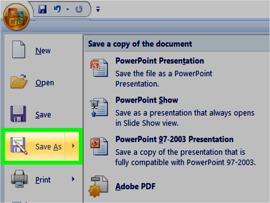 make a powerpoint template