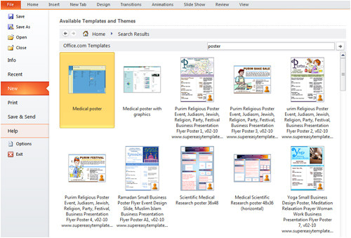 create poster powerpoint 2010