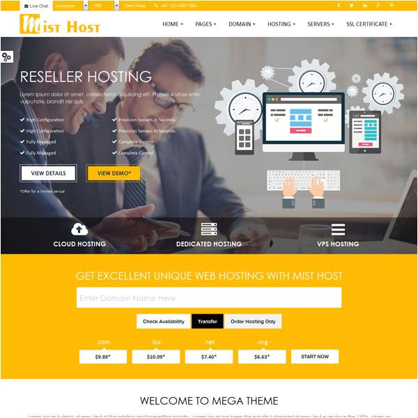 web hosting themes