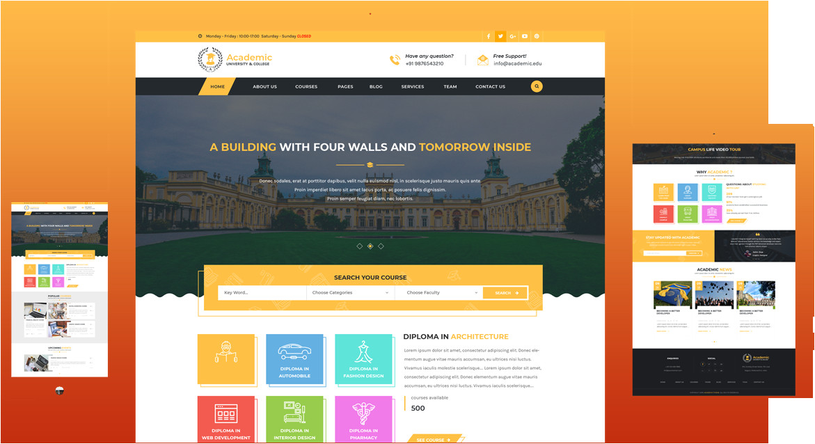 premium academic education theme