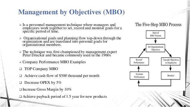 principle of management sumaira fatima goals traditional objective setting and mbo is