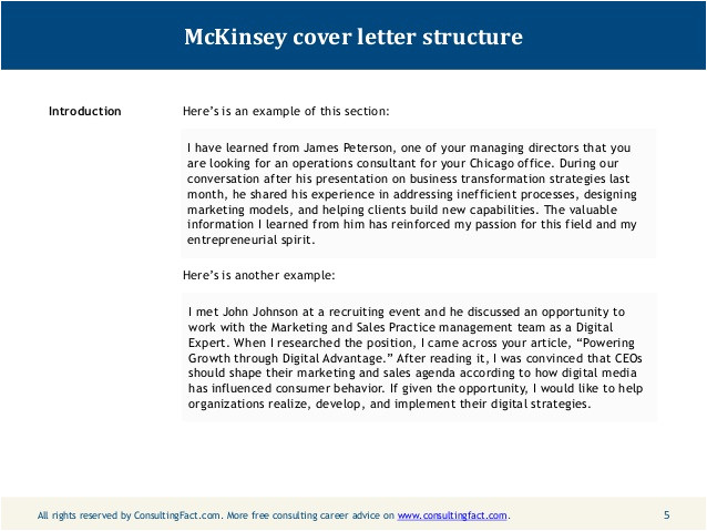 management consulted cover letter
