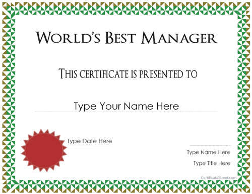 best manager award 311