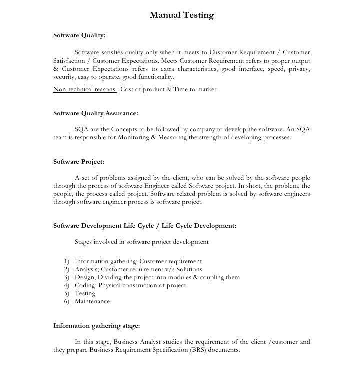 Manual Testing 3 Years Experience Sample Resumes Sample Resume for 3 Years Experience In Manual Testing