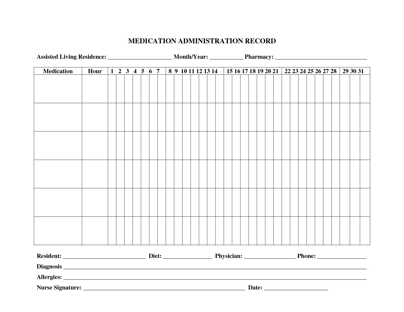 post administration record template medication chart 300208