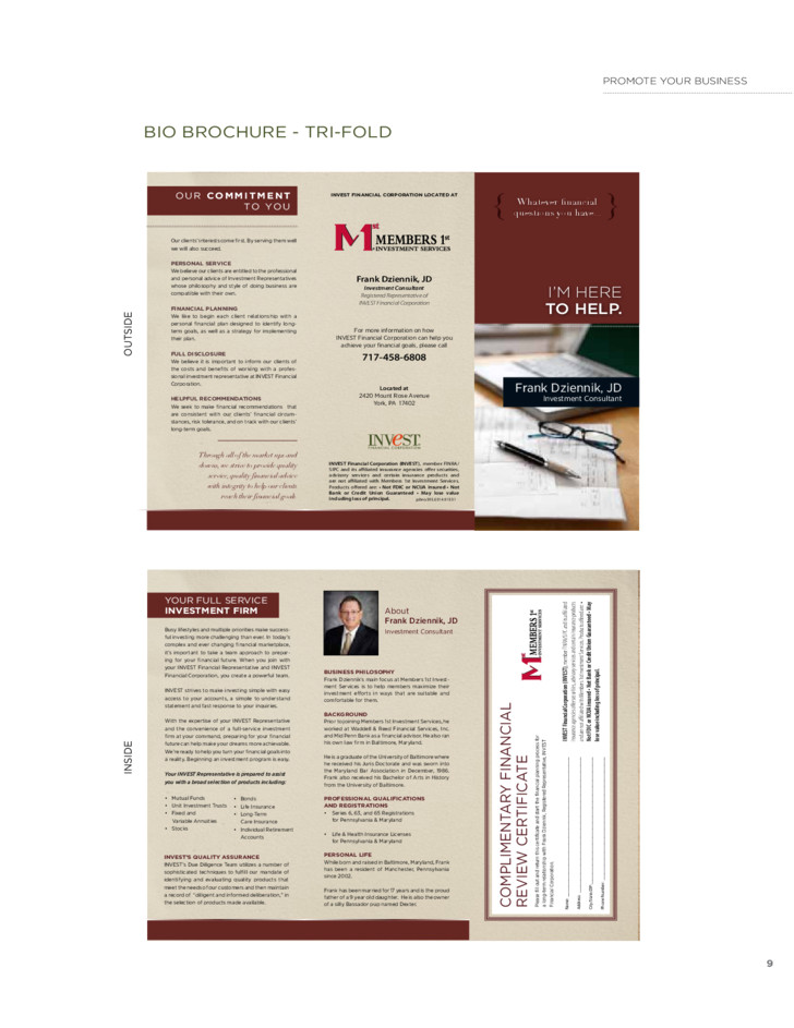 free marketing brochure template 6