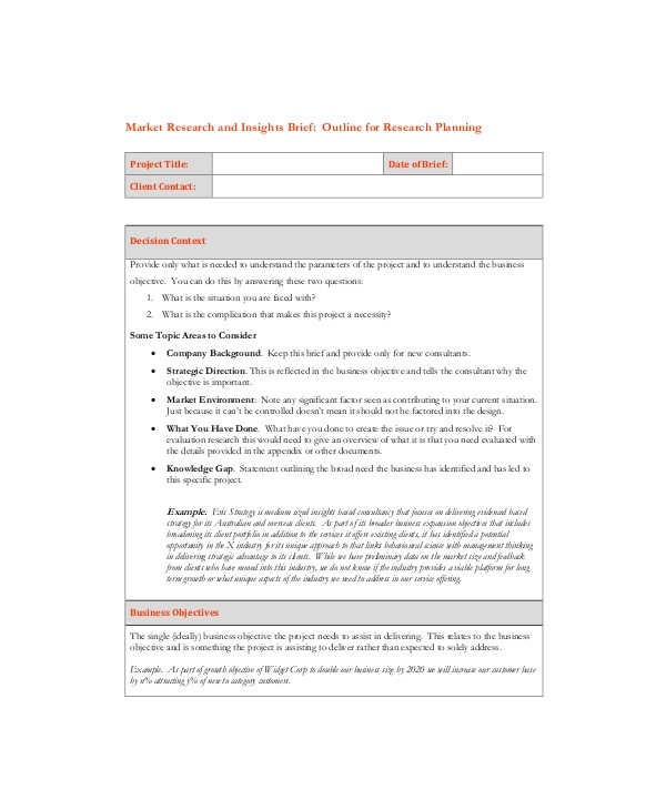 sample marketing brief template