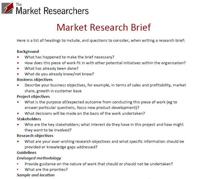 market research proposal