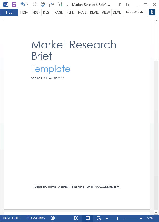 market research templates