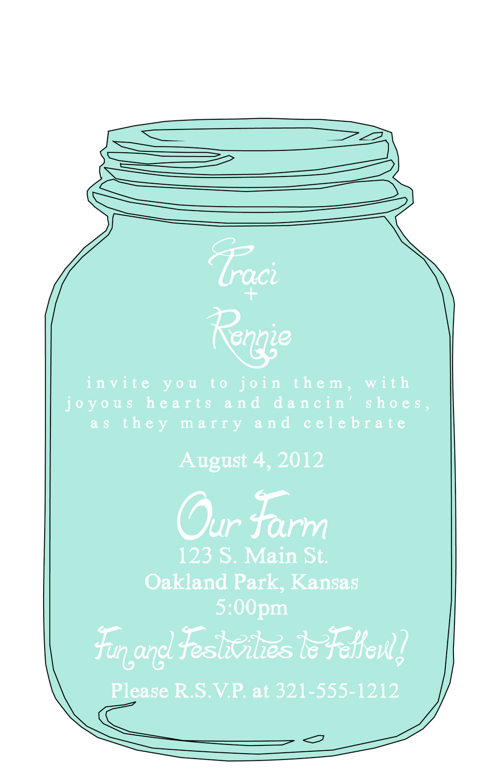 Mason Jar Invite Template Invitations On Pinterest Flyers Templates and Canning
