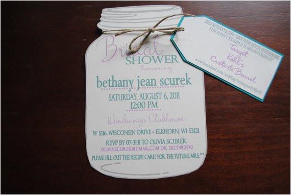 Mason Jar Invite Template Items Similar to Mason Jar Bridal Shower Invitations with