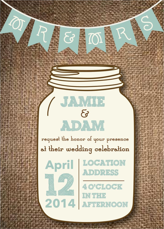 mason jar wedding invitations diy rustic