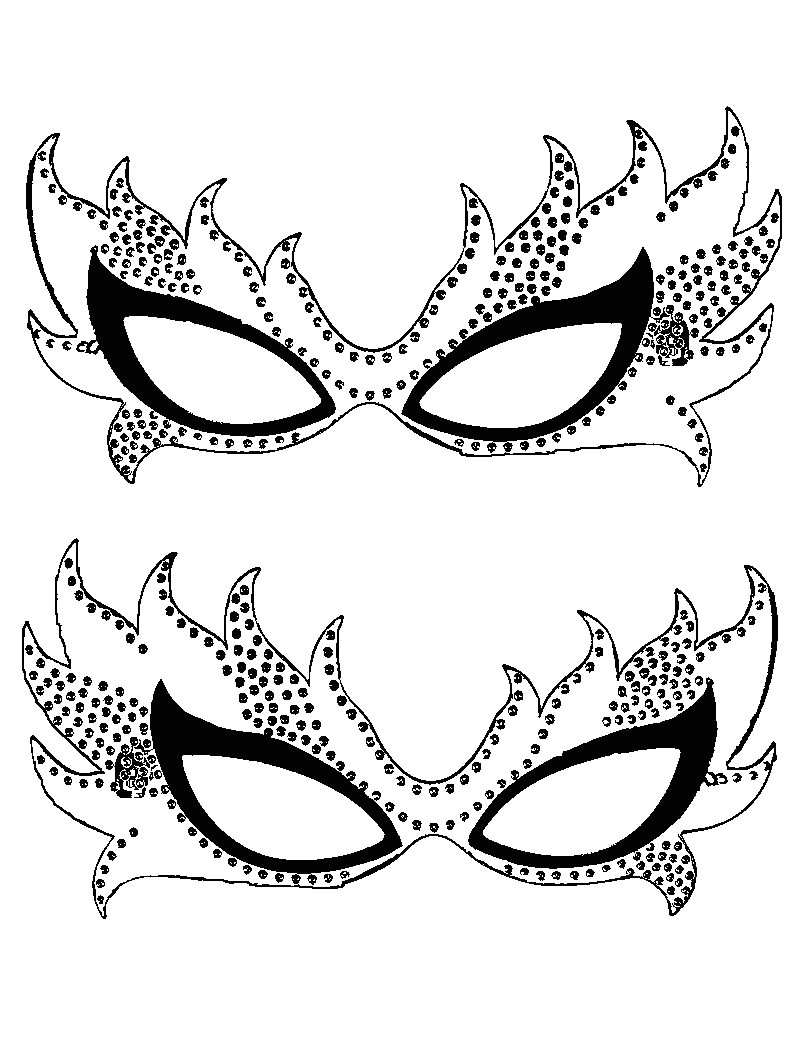 Masquerade Mask Template for Adults Free Printable Mardi Gras Coloring Pages for Kids