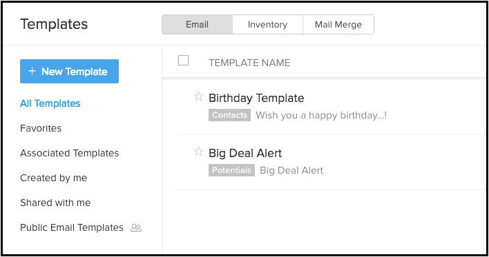 Mass Email Templates Email Templates Online Help Zoho Crm