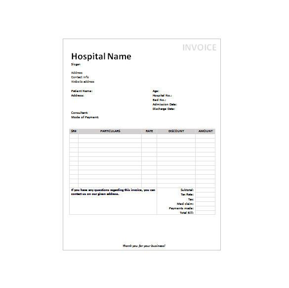 massage invoice template