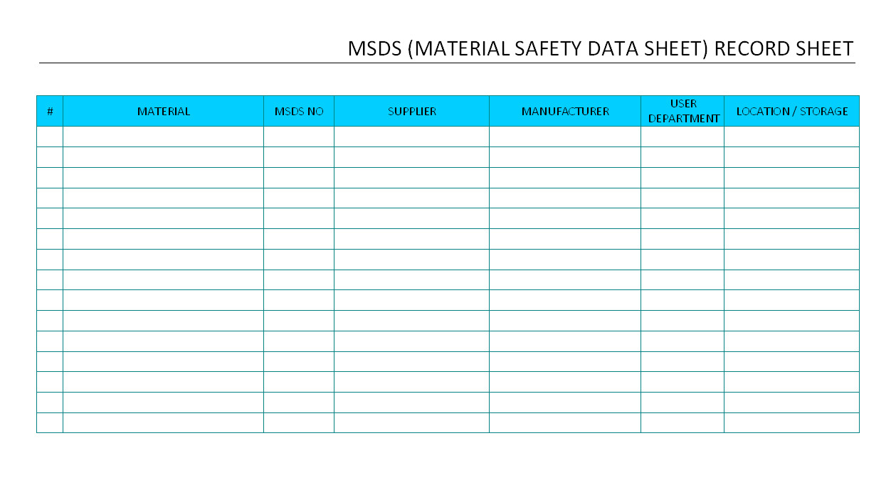 Material Safety Data Sheet Template Free Free Printable Msds Sheets Health Symptoms and Cure Com