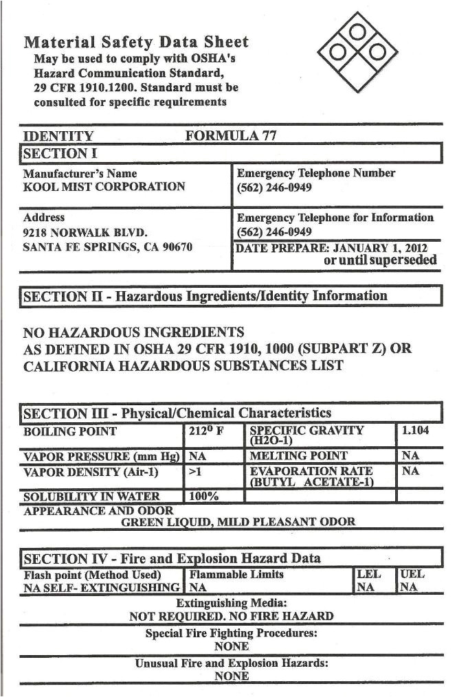 free printable msds sheets