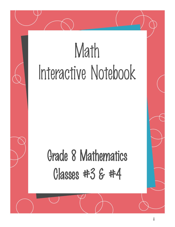 Math Interactive Notebook Templates Grade 8 Math Interactive Notebook by Deborah Dyer issuu