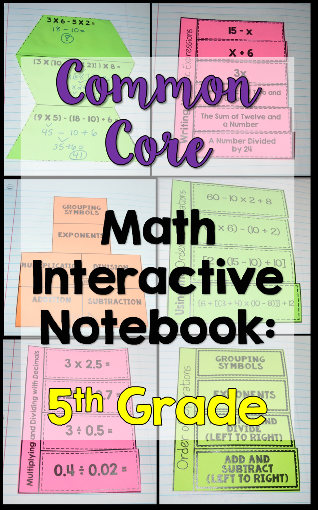 teaching order operations free inb template