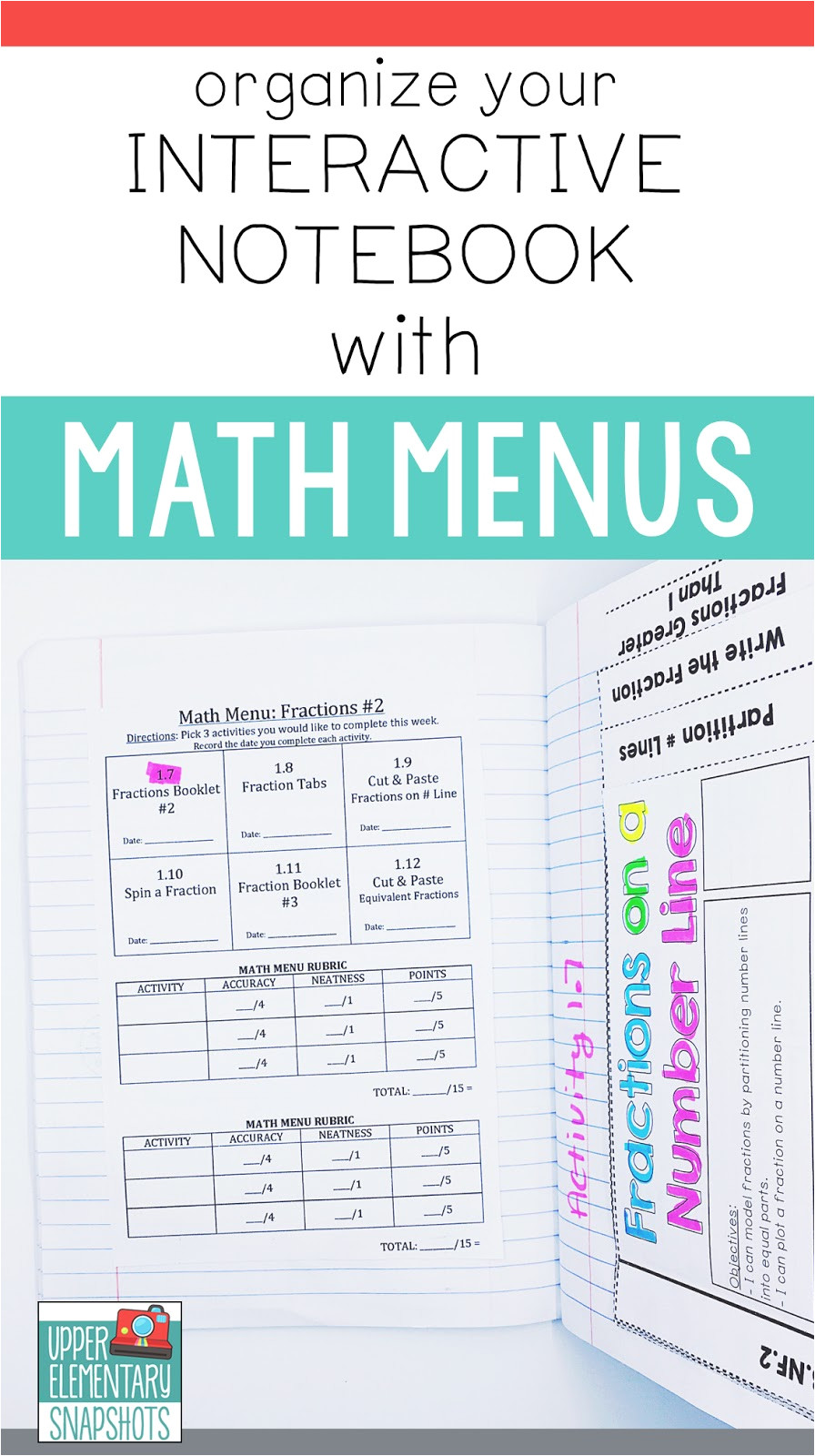 organize your interactive notebook with