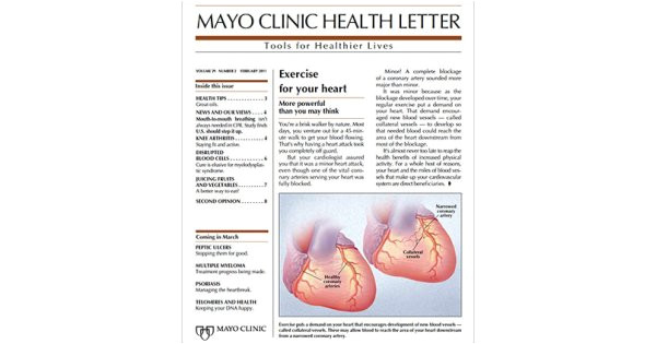 Mayo Clinic Cover Letter Subscribe or Renew Mayo Clinic Health Letter Magazine