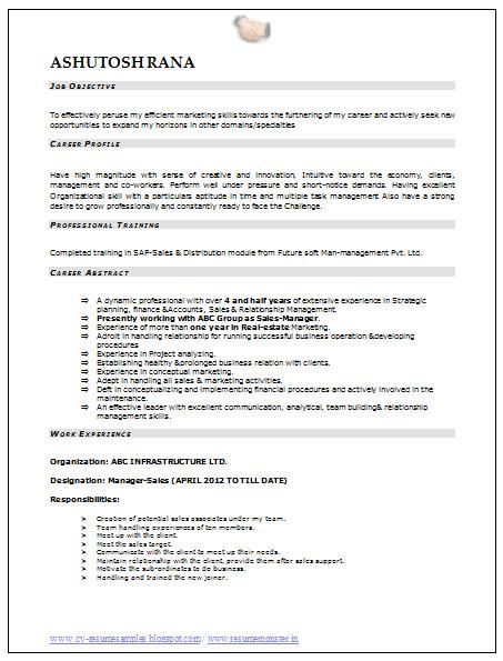 download mba marketing resume sample