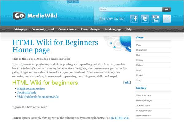 templates mediawiki