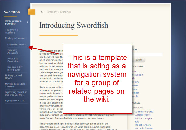 using mediawiki templates to organize content organizing content 13
