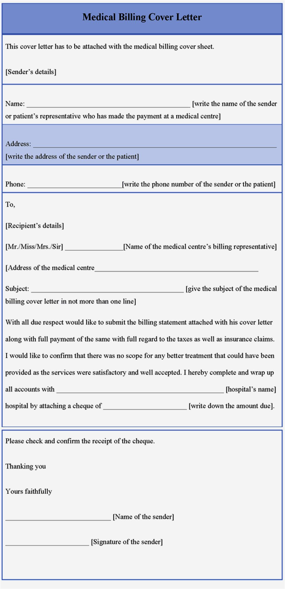 cover letter examples for medical biller