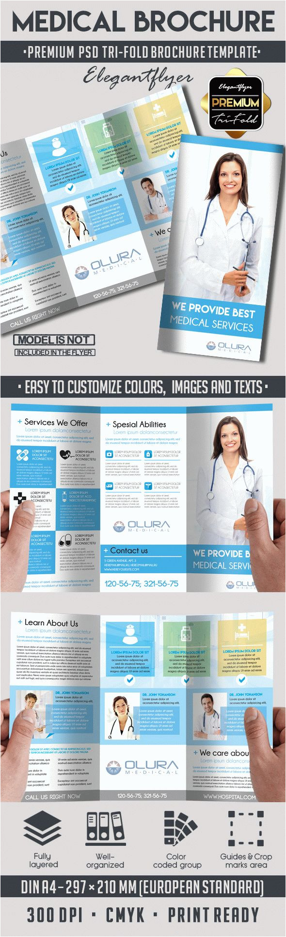 Medical Tri Fold Brochure Templates for Free Emergency Medical Services Tri Fold Brochure by Elegantflyer