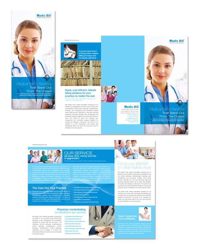 medical brochure template