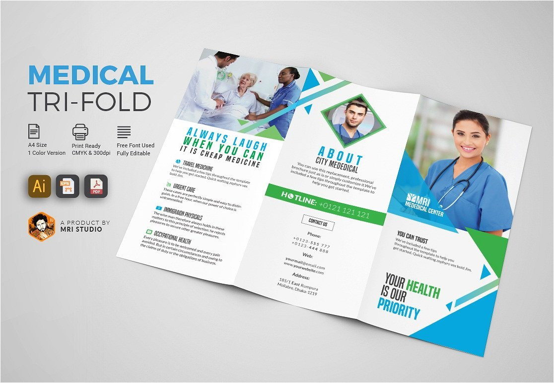 Medical Tri Fold Brochure Templates for Free Simple Medical Tri Fold Brochure Brochure Templates