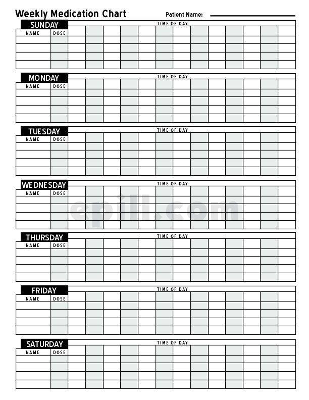 Medicine Calendar Template Free Medication Schedule E Pill Medication Chart