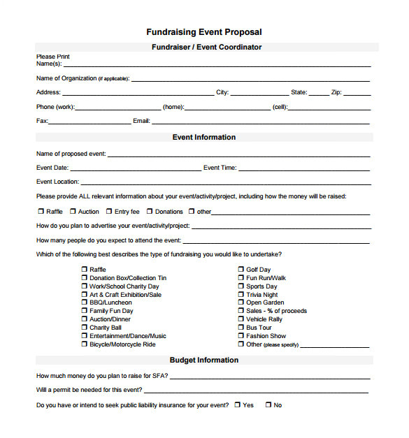 event proposal template