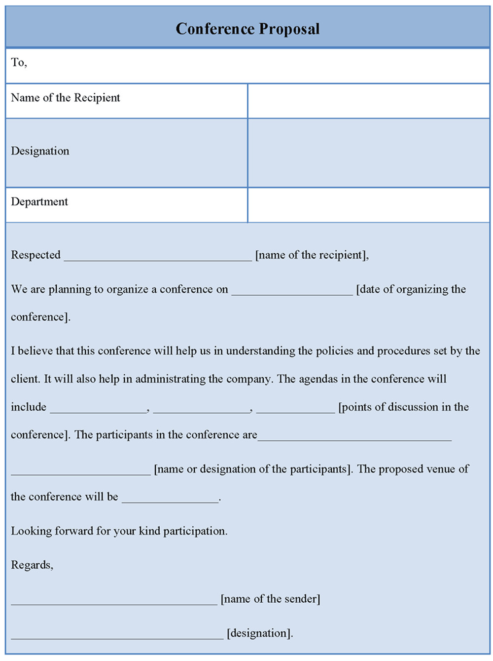 Meeting Rfp Template Proposal Template for Conference Example Of Conference
