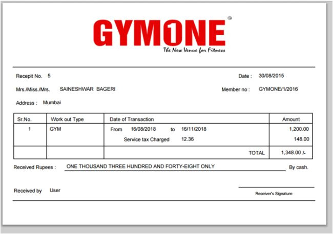 project gymone demo project in mvc