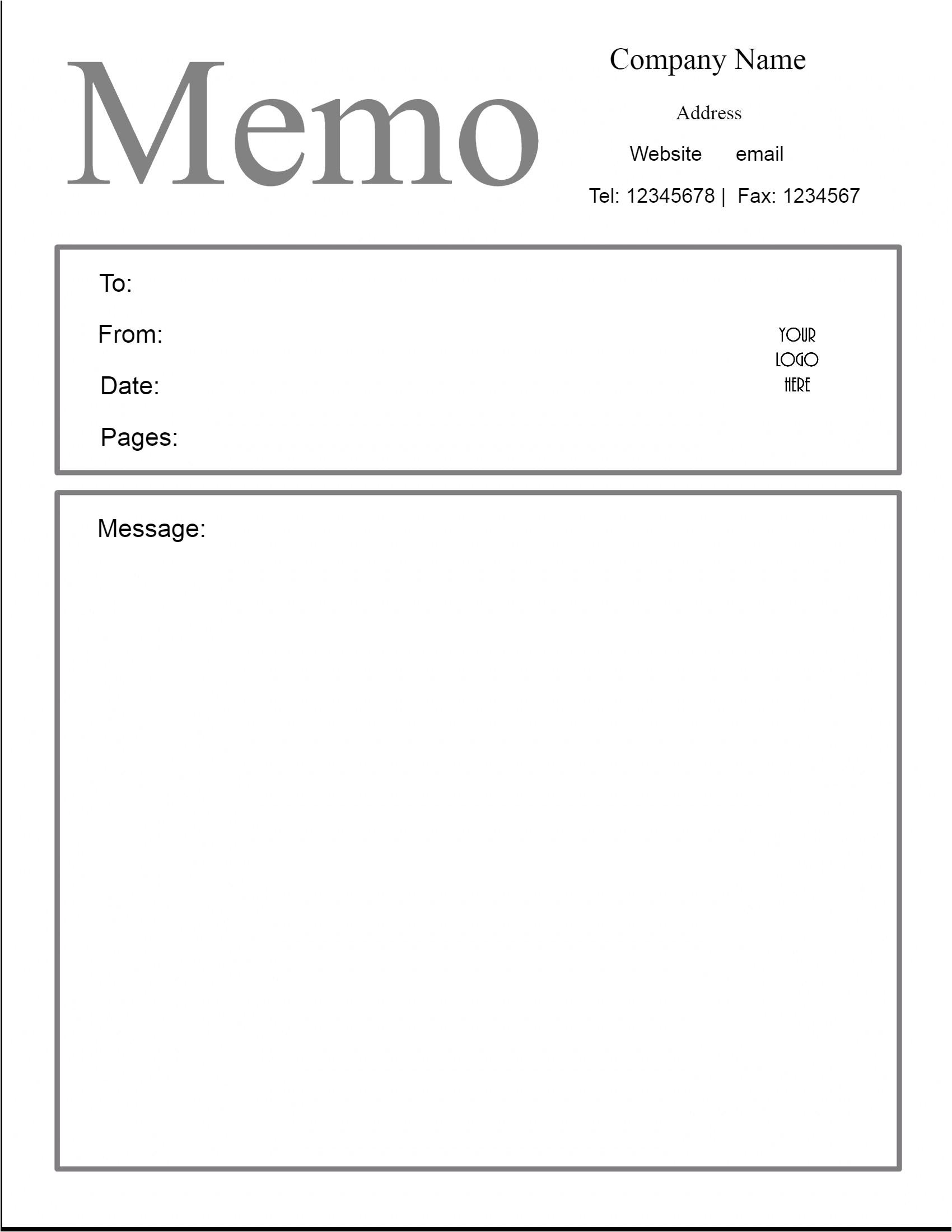 memo template
