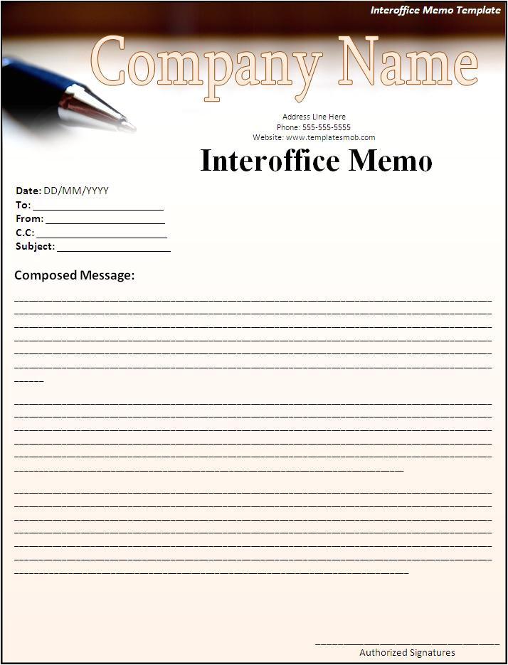 memo sample in word