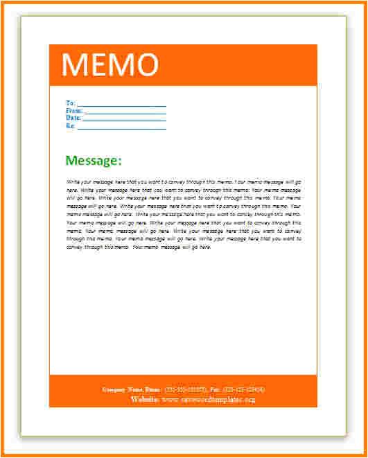 memo template word 2013