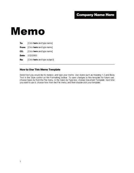 memo word templates