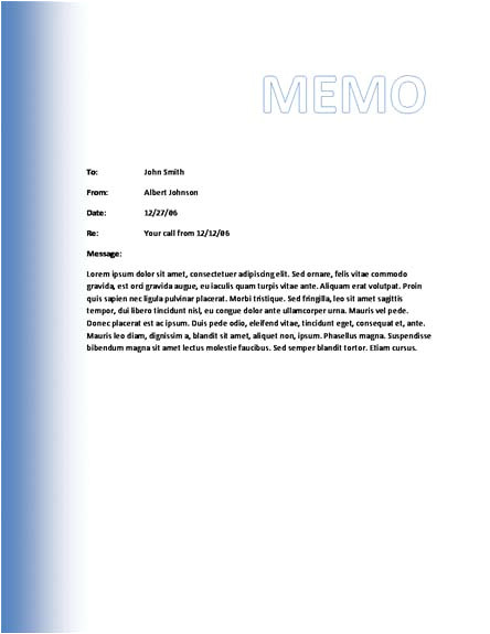 Memo Template Word 2007 Memo Template Category Page 1 Efoza Com