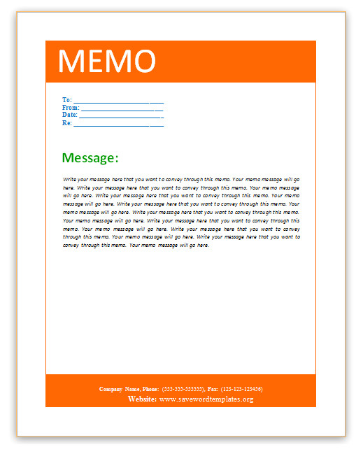 word 2007 interoffice memo