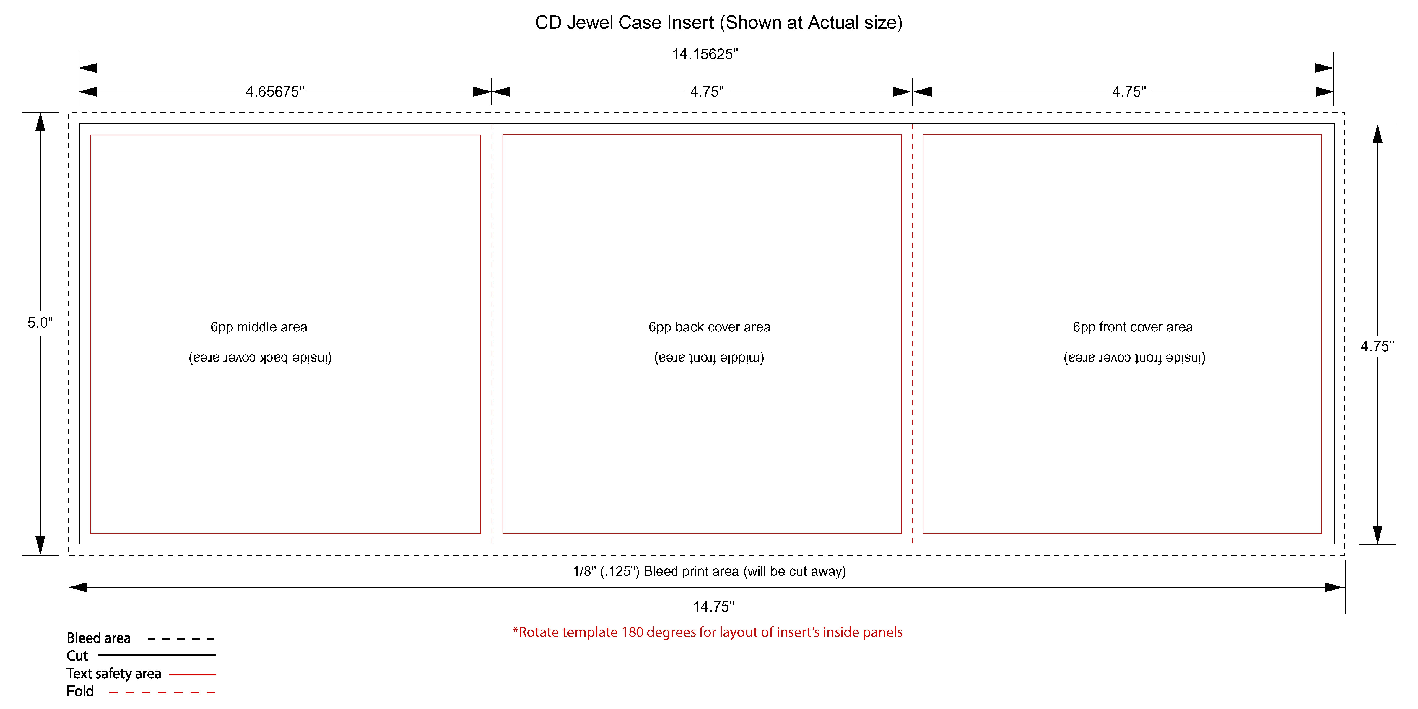 memorex jewel case template